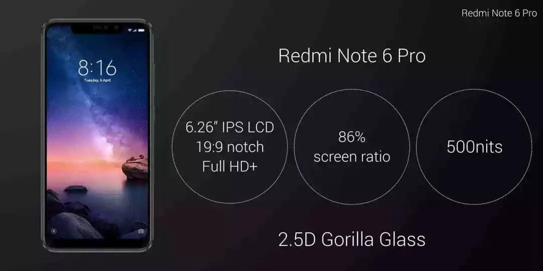 红米Note6 Pro发布:刘海屏四摄像头 背部设计亮了!