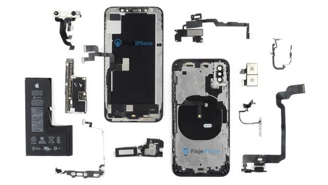 iPhone XS拆解图解:电池比苹果X还小 内部结构变化不大